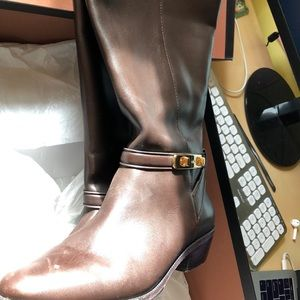 Coach Caroline Swagger BrownBoot calf extended 7.5